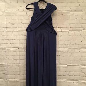 BCBG Floor Length Gown Navy Blue NWT